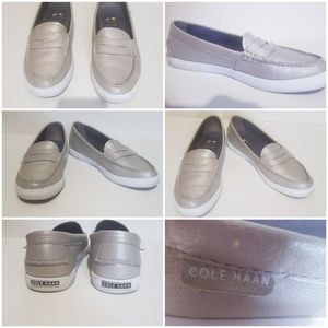 Cole Haan Silver/ Gray loafers